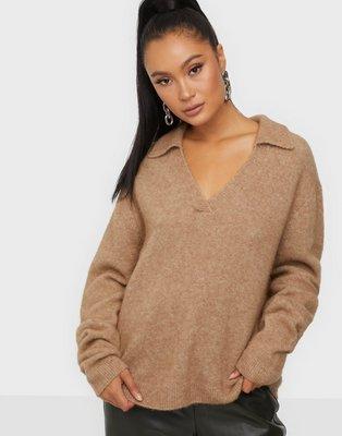 NORR Salt collar knit Strikkede trøjer