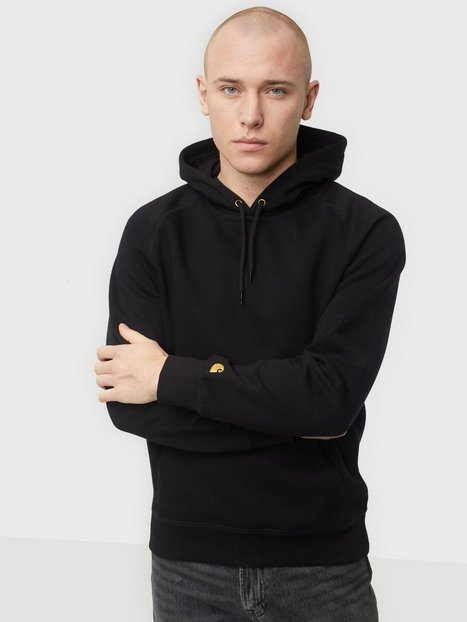 Carhartt WIP Hooded Chase Sweat Trøjer Black/Gold