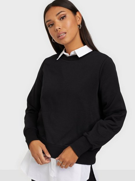Noisy May Nmlupa L/S Sweat Bg Noos Sweatshirts Black