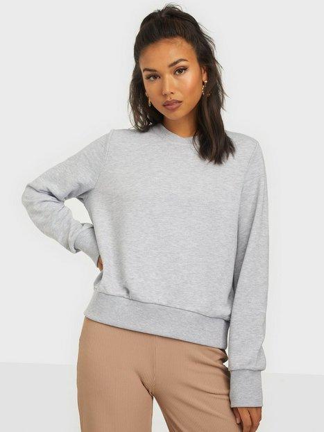 Noisy May Nmlupa L/S Sweat Bg Noos Sweatshirts Light Grey Melange