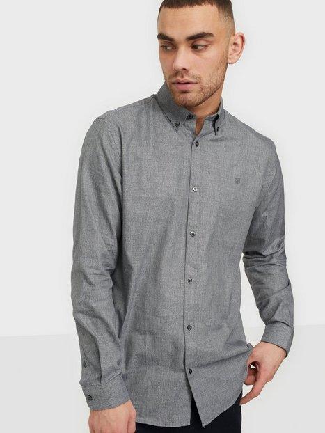 Jack & Jones Jprblaoccasion Grindle Shirt L/S Skjorter Light Grey Melange Slim Fit