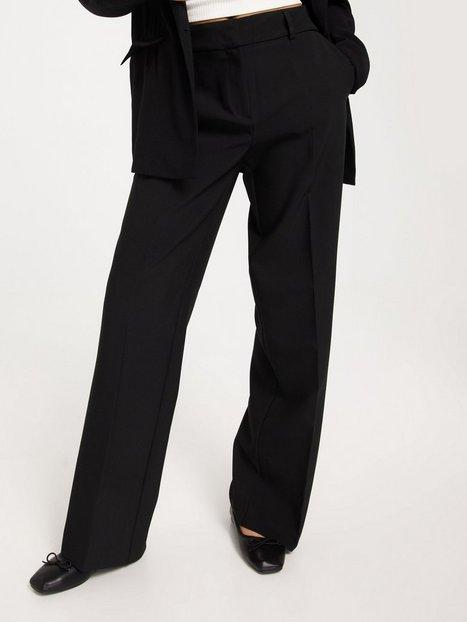 Selected Femme Slfrita Mw Wide Pant Lgm B Noos Bukser Black