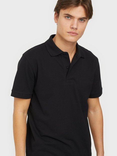 Selected Homme Slhneo Ss Polo s Noos Polotrøjer Black