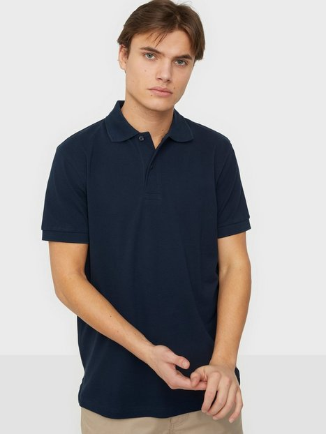 Selected Homme Slhneo Ss Polo s Noos Polotrøjer Navy Blazer