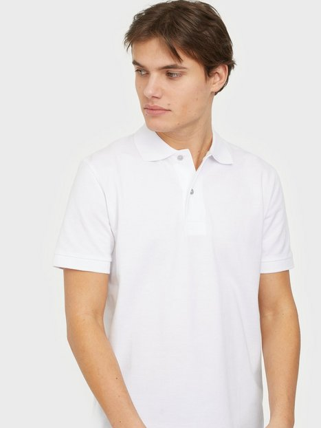Selected Homme Slhneo Ss Polo s Noos Polotrøjer Bright White