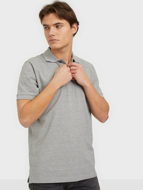 Selected Homme Slhneo Ss Polo s Noos Polotrøjer Medium Grey Melange
