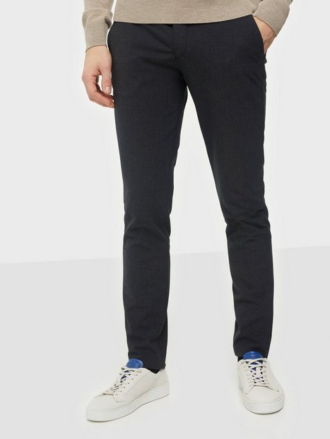 Selected Homme Slhslim-Carlo Flex Struc Pants B Bukser Medium Grey Melange