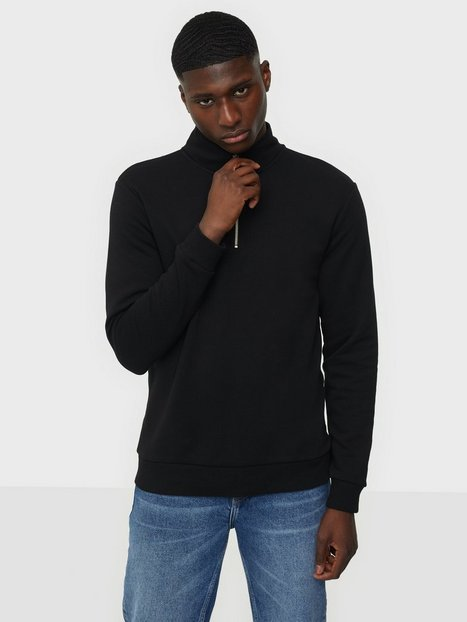 Only & Sons Onsceres Life Half Zip Sweat Trøjer Black