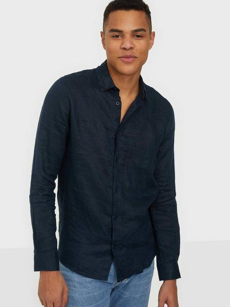 Tailored Originals TOArmin LS Skjorter Dark Sapphire