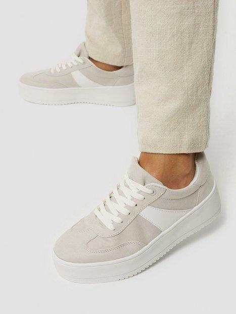 Duffy Contrast Sneaker Low Top Beige