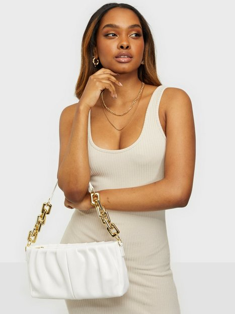 NLY Accessories Marshmallow Chain Bag Håndtasker Creme