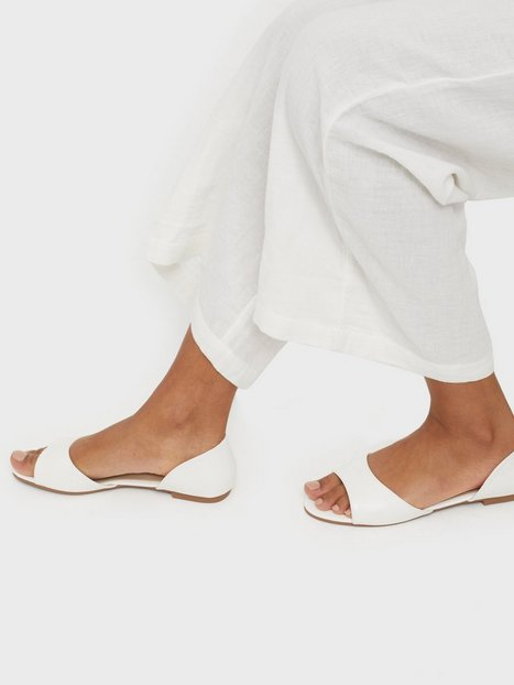 NLY Shoes Open Toe Ballerina Ballerina Hvid