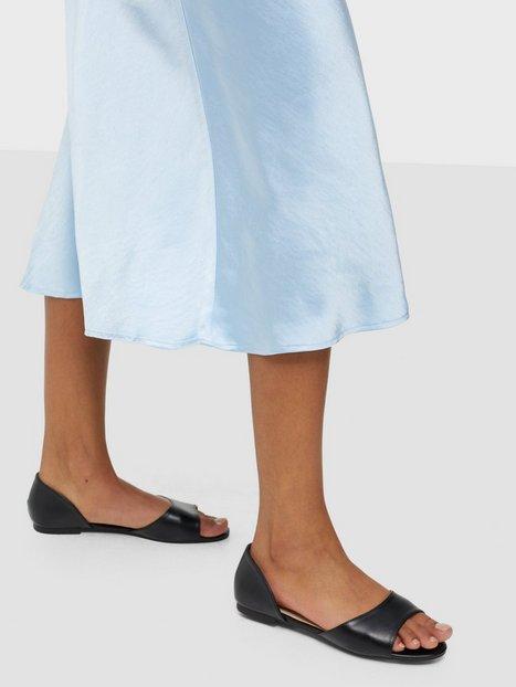 NLY Shoes Open Toe Ballerina Ballerina Sort