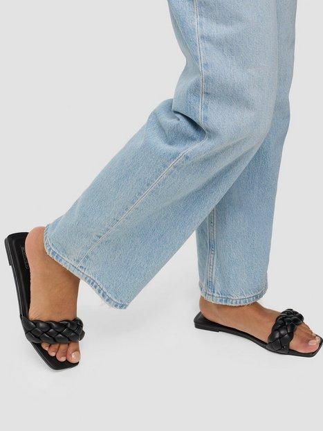 NLY Shoes Braided Flat Sandaler Sort