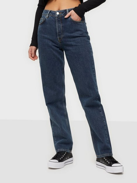 Selected Femme Slfkate Hw Straigh Long Harbour Blu Straight fit