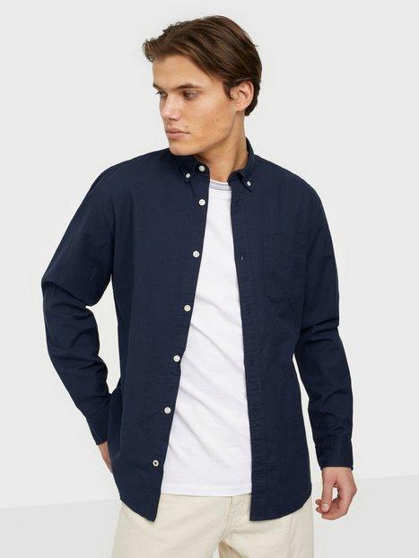 Jack & Jones Jjeoxford Shirt L/S S21 Noos Skjorter Navy Blazer Slim Fit