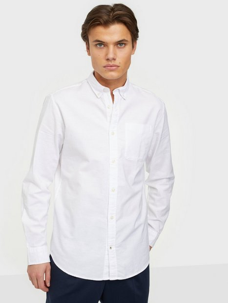 Jack & Jones Jjeoxford Shirt L/S S21 Noos Skjorter White Slim Fit