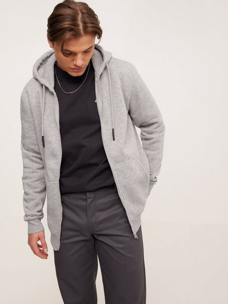 Only & Sons Onsceres Life Zip Thr. Hoodie Sweat Trøjer Light Grey Melange