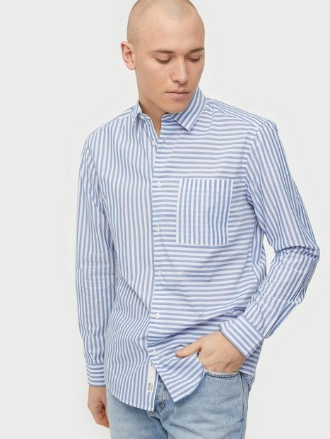 Only & Sons Onstripp Life Ls Reg Striped Shirt Skjorter Cashmere Blue