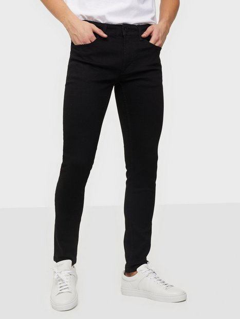 Only & Sons Onswarp Life Skinny Black Pk 9383 N Jeans Black Denim