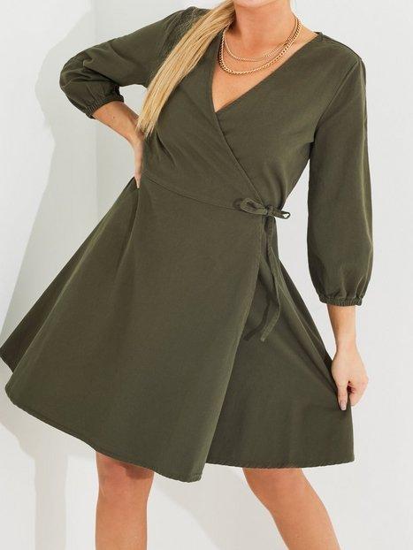 Vero Moda Vmhenna 3/4 Wrap Short Dn Dress Ga Skater kjoler