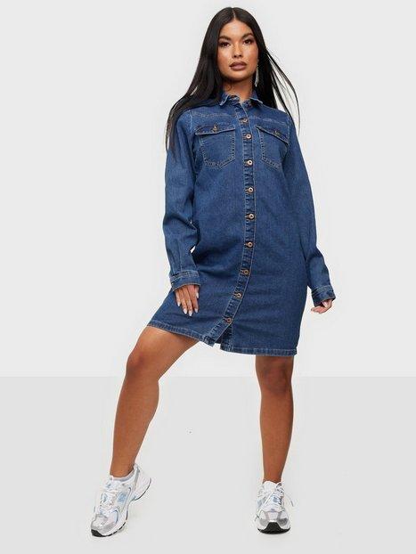 Pieces Pcperry L/S Denim Dress-Vi/Noos Bc