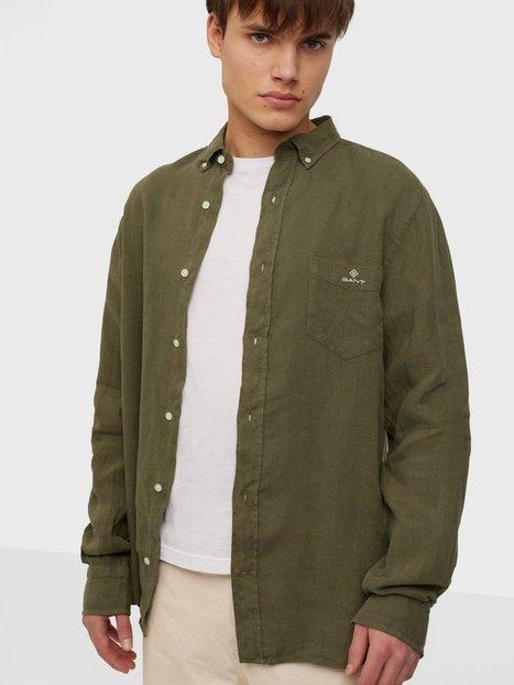Gant D2. Reg Ut Gmnt Dyed Linen Bd Skjorter Leaf