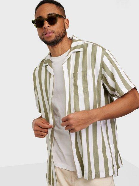 Gant D2.Pp Rel Stripe Ss Riviera Skjorter Aloe