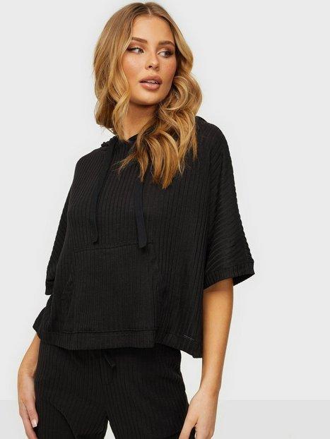 Calvin Klein Underwear Short Sleeve Hoodie Loungewear Black