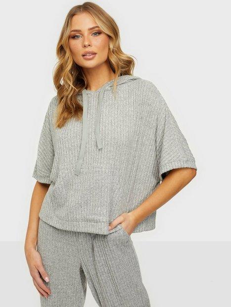 Calvin Klein Underwear Short Sleeve Hoodie Loungewear Grey