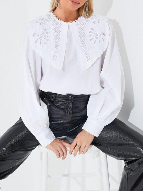 Only Onljane L/S Collar Top Wvn Hverdagsbluser