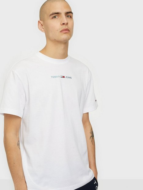 Tommy Jeans Tjm Shine Small Text Tee C T-shirts & undertrøjer White