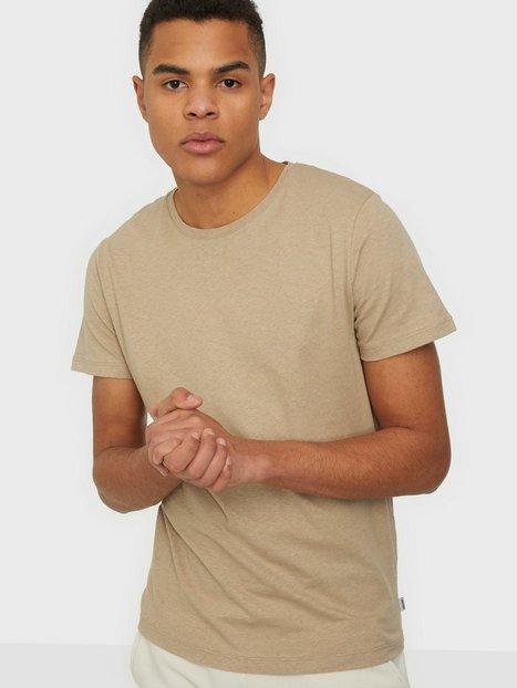 Jack & Jones Jjelinen Basic Tee Ss Crew Neck Sts T-shirts & undertrøjer Crockery Reg