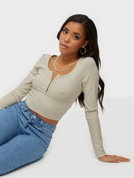 Only Onlamy L/S Rib Top Jrs Bluser & skjorter Antique White