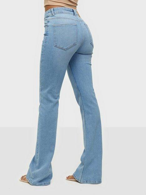 Pieces Pcpeggy Flared Mw Jeans-Vi Bc Light Blue Denim