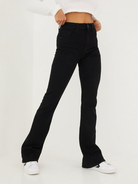 Pieces Pcpeggy Flared Hw Jeans Bl-Vi Noos