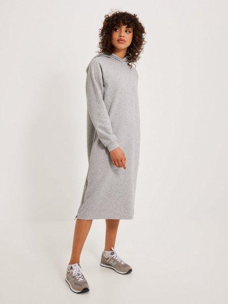 Noisy May Nmhelene L/S Sweat Dress Bg Noos Kjoler Light Grey Melange
