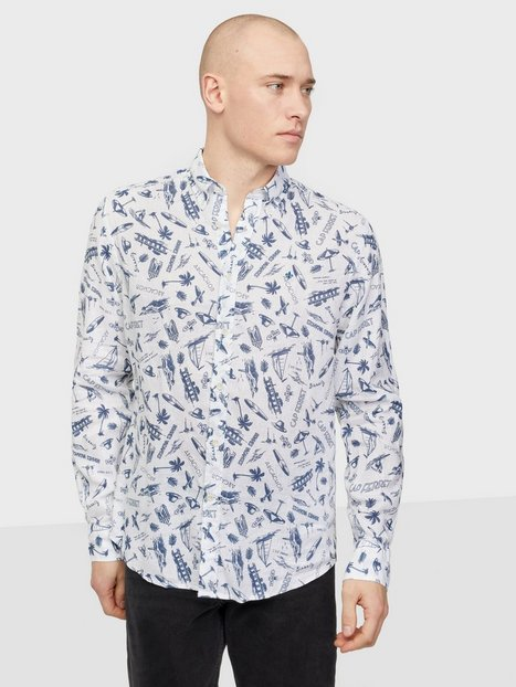 Morris Raphael Button Down Shirt Skjorter Offwhite