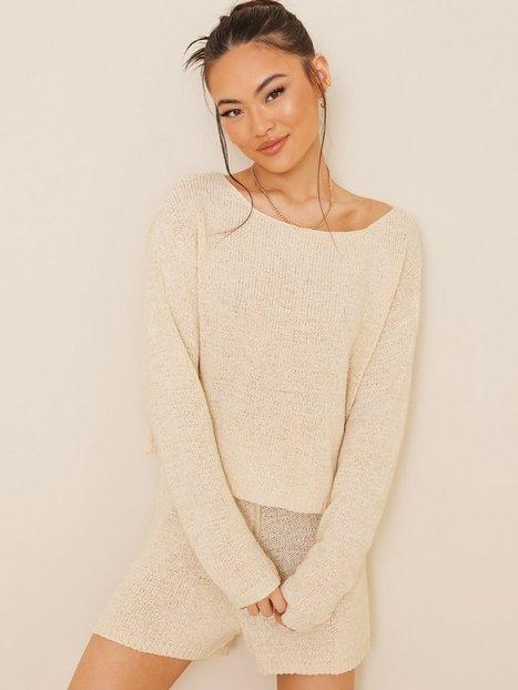 NLY Trend Comfy Knit Sweater Strikkede trøjer Beige