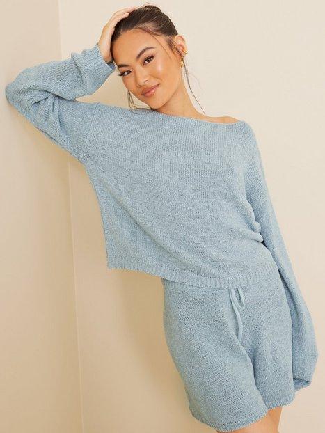 NLY Trend Comfy Knit Sweater Strikkede trøjer Blå