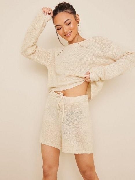 NLY Trend Comfy Knit Shorts Bukser & shorts Beige