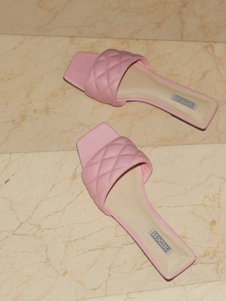 NLY Shoes Padded Slip In Square Flat Flats Pink