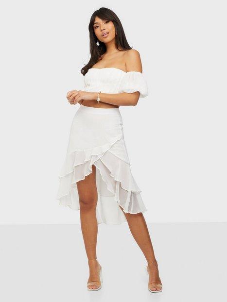 NLY Trend In Bloom Skirt Nederdele Hvid