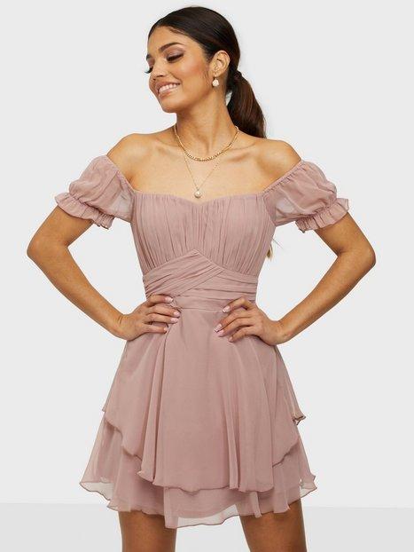 NLY Trend Girly Bustier Dress Skater kjoler Dusty Pink