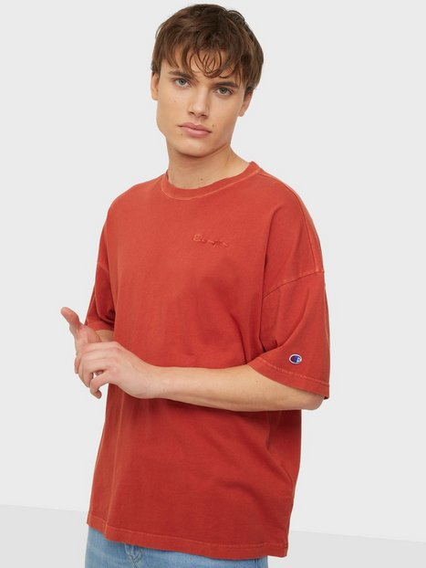 Champion Reverse Weave Crewneck T-Shirt T-shirts & undertrøjer Red