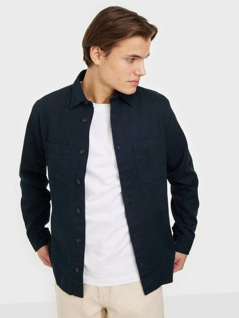 Jack & Jones Jprblalinen Twill Overshirt L/S Skjorter Navy Blazer