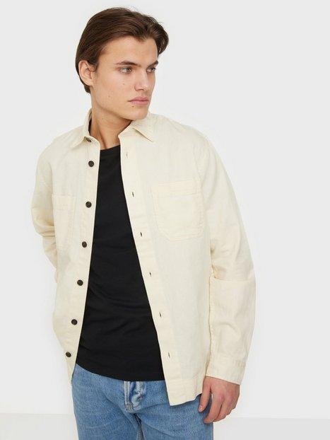 Jack & Jones Jprblalinen Twill Overshirt L/S Skjorter Whisper White