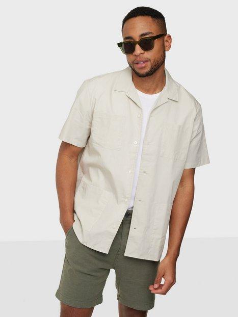 Selected Homme Slhrelaxcosmo Shirt Ss G Skjorter Moonbeam
