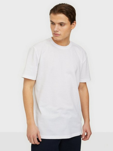 Selected Homme Slhrelaxwaffle Ss O-Neck Tee G T-shirts & undertrøjer Bright White