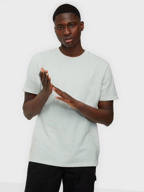 Selected Homme Slhrelaxwaffle Ss O-Neck Tee G T-shirts & undertrøjer Grey Melange